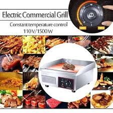 commercial countertop electric grill griddle flat top restaurant