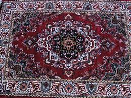 persian carpet red white blue black design 1 6m x 2 3m 2 in stock