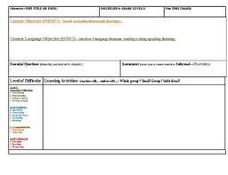 Blank Lesson Plan Templates Blank Lesson Plan Template Exemplar Lesson Plan By Anam Cara Cat