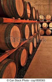 stacked oak barrels. Wine Barrels - Csp1808363 Stacked Oak R