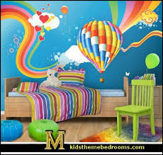 Awesome Hot Air Balloon Bedroom Ideas   Decorating With Hot Air Balloons. Lollipop  Rainbow Comforter