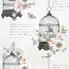 vintage birdcage wallpaper. Contemporary Birdcage Arthouse Vintage Wallpaper  Diamond Bird Cage 259700 In Birdcage WonderWall By Nobletts