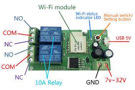 motor clockwise anticlockwise running wifi wireless switch 7 32v dc motor wiring diagram