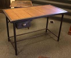 vintage steel furniture. simple furniture french vintage industrial steel desk with wood top  one drawer 2 throughout furniture