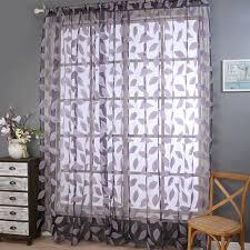 Printed Curtains Living Room Leaf Print Curtains Promotion Shop For Promotional Leaf Print