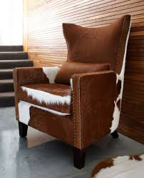 interesting cowhide chairs for your interior design mid century cowhide armchairs with wood legs for