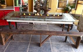 dining room tables made out of old doors