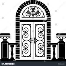 door clipart black and white. Unprecedented Front Door Clipart Black And White ClipartXtras