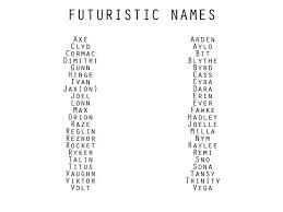some of these names are ancient so it seems weird to me that they re led futuristic but they re all good names