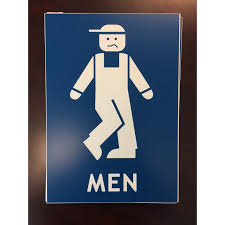 blue mens bathroom sign. Fine Mens Be  In Blue Mens Bathroom Sign 0