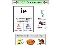 Phonics worksheets long vowel worksheets short vowel worksheets identify beginning and ending sounds phonics matching worksheets teaching phonics. Irregular Vowel Ie Worksheet For 2nd 3rd Grade Lesson Planet
