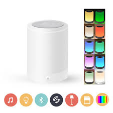 Yunzhuang Wireless Led Bluetooth Speakers Dimmable Night Light With Bluetooth 4 0 Speaker Smart Touch Led Mood Lamp Muisc Player Hands Free