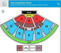 Ruoff Home Mortgage Music Center Noblesville In Seating Chart Dave Matthews Band Pit1 2 Tickets Noblesville In 7 7 18