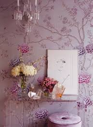 Pink And Purple Wallpaper For A Bedroom Wonderland Philosophy More Chinoiserie Interiors With De Gournay