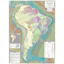 Tectonic Map Of South America Ccgm Cgmw