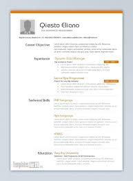 Model Resume Template Inspiration Good Best Resume Templates Examples Top Professional Google Docs For