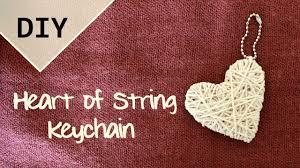 DIY Heart of String Keychain | Valentine's Day
