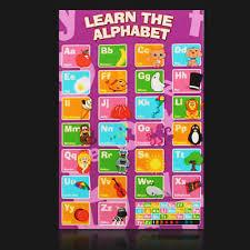 50cm 33cm Alphabet Poster Learn My Abc Wall Chart Fun