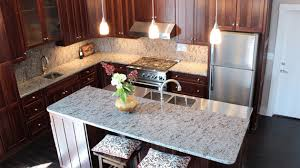 Granite With Backsplash Best 48 Different Granite Kitchen Countertops Home Design Lover