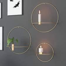 3d metal candlestick wall