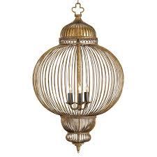 claydon antique gold moroccan style 3 light lantern pendant kathy kuo home