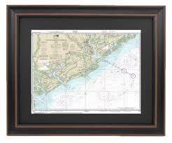 Charleston Nautical Chart Amazon Com Patriotgearcompany Framed Nautical Chart 11521
