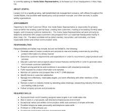 Resume For Analyst Job Best Of Inside Sales Rep Resume Revenue Analyst Job Description 79