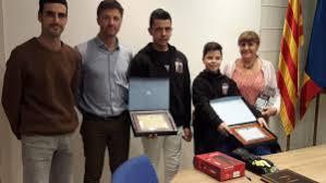Els pilots de motos Àlex Loza i Miguel Pérez han tingut recepció ...