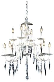 elegant lighting chandelier light crystal in polished silver with cut clear halo
