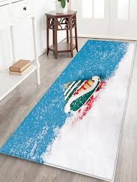 latest snow pattern water absorption area rug
