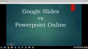 Google Slide Vs Powerpoint Online On A Chromebook