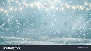 Snow Light Christmas Snowy Background With Light Garlands Falling
