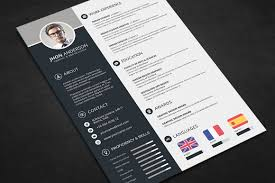 Photoshop Resume Template Free Adobe Download Editable Psd Cv