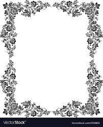 Black And White Vintage Design Black And White Vintage Frame
