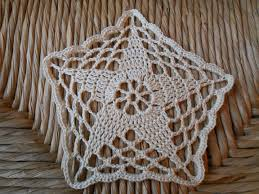 Crochet 5 Point Star Pattern Simple Decoration