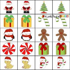 Printable Kids Free Christmas Printable Memory Game For Kids