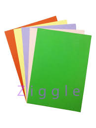 Ziggle A4 Size Pastel Colored Sheets Paper For Art And Craft 5