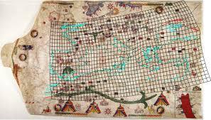 Portolan Charts Portolan Chart Of Petrus Roselli 1466 With Distortion Grid