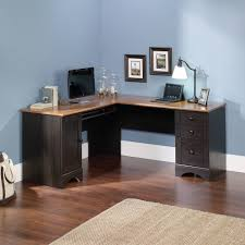 sauder harbor view corner computer desk antiqued paint finish with sizing 2000 x 2000