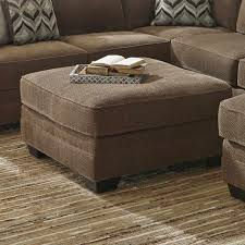 oversized cocktail ottoman. Simple Cocktail Ashley Justnya Brown Chenille Oversized Cocktail Ottoman  Weekends Only  Furniture Intended L