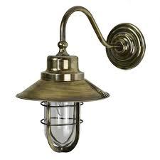 wheelhouse outdoor wall light lantern light antique brass