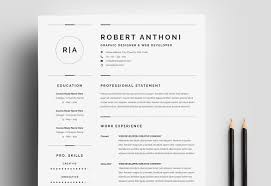 3 Pages Clean Resume Cv Template Resume Templates Creative Market