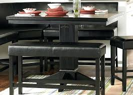 black counter height dining table and chairs black counter height table set dining bar with stool