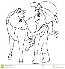 Vettore Del Cavallo Di Alimentazione Dei Bambini Del Libro Da