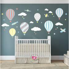 hot air balloon jets nursery wall sticker