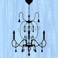chandelier template silhouette of luxury chandelier on a scratched blue wallpaper template design of invitation with chandelier template