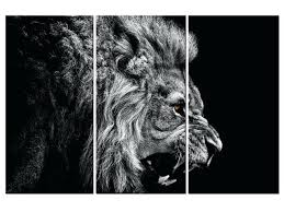 full size of lion wall art rampant metal scenic poster black and white 3 pieces set