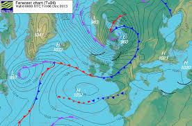 surface pressure charts northern europe under the worst storm since 1953 hurricane xaver