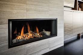 valor l1 linear series zero clearance gas fireplace shown with driftwood fluted black liner and