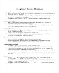 Administrative Resume Objective Resume Objective Executive Assistant